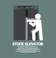 Stuck Elevator Symbol Graphic Symbol vector