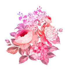 Summer flowers bouquet vector