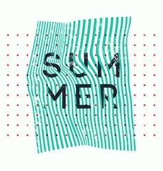 Summer typographic vintage grunge poster vector
