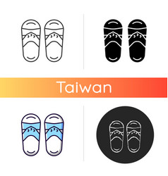taiwanese slippers icon vector image
