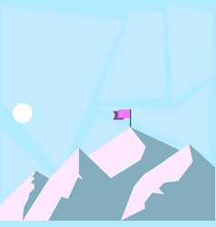 View of mountain and hills with shadow indicating vector