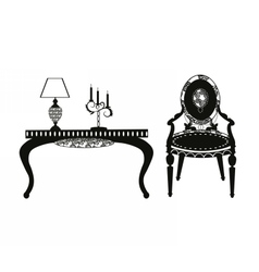 Vintage classic style furniture set vector