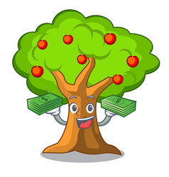 With money apples on tree branch the character vector