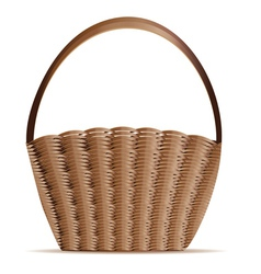 Woven basket vector