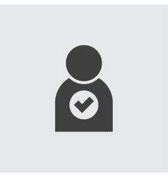 Add user icon vector image