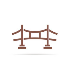brown simple bridge logo vector image vector image