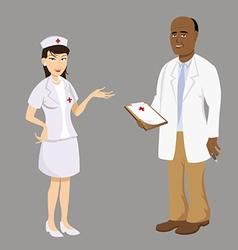 doctor nurse vector image vector image