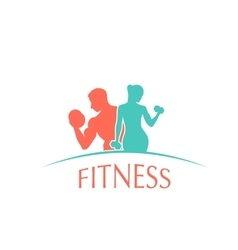 fitness club logotype vector image vector image