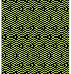 Green abstract seamless pattern with interweave vector image vector image