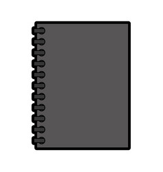 grey notebook cartoon vector image