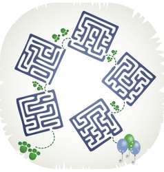 Step maze vector image vector image