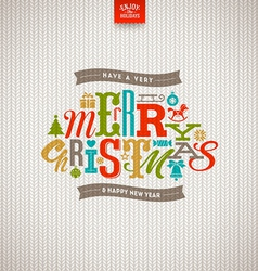 Multicolored Christmas type design vector image vector image