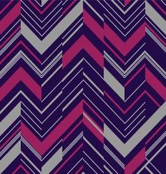 Pattern in zigzag colored vector image vector image