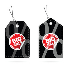 tag with big sale sticker on it vector image vector image
