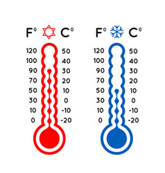 thermometer set vector image vector image