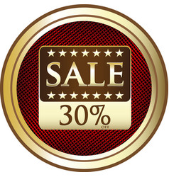 Thirty percent sale icon vector
