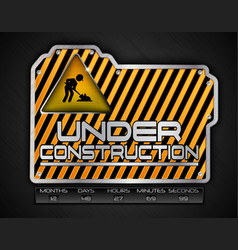 under construction board with work in progress sig vector image vector image