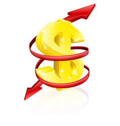 dollar exchange rate concept vector image vector image