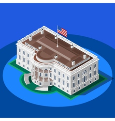 Election infographic white house isometric vector