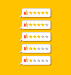 feedback concept five stars rating vector image vector image