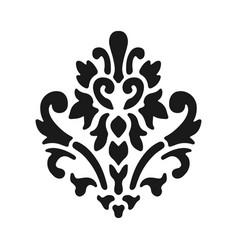 fleur de lis symbol black silhouette - heraldic vector image