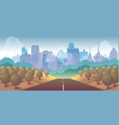 forest city and road vector image