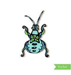 Hand drawn creativity beetle insect ethnic style vector