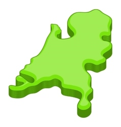 Holland map icon cartoon style vector image
