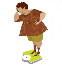 lady on scales vector image vector image