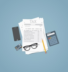 Taxes vector image vector image