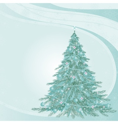 Von with fir-tree vector image vector image