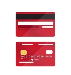 Credit card close-up isolated vector image vector image
