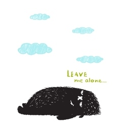 Leave Me Alone Lying Black Little Monster and vector image vector image