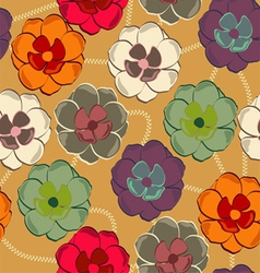 Pattern with floral background vector image