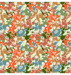 seamless pattern with random skulls vector image