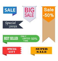 set of price-tags vector image