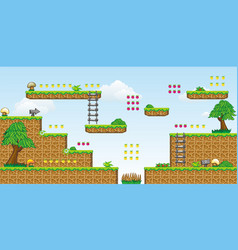 2d tileset platform game 30 vector