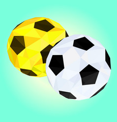 abstract low poly footballgeometric concept vector image