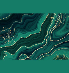 Abstract luxury liquid marble glittered green vector