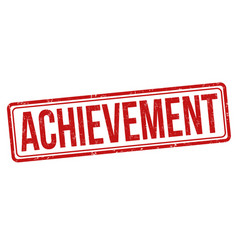 achievement grunge rubber stamp vector image