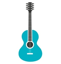 Acoustic guitar music instrument icon design vector image