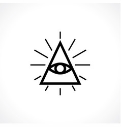 All-seeing eye vector