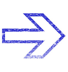Arrow right grunge textured icon vector