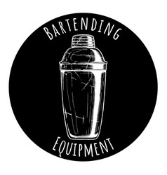 bartending equipment vector image