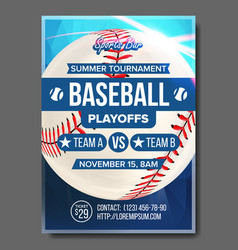 Baseball poster design for sport bar vector