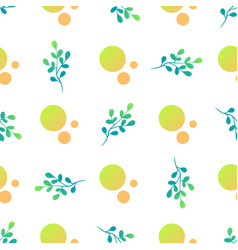 beautiful light delicate leaves seamless pattern vector image