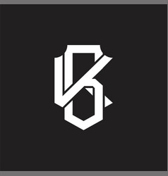Bk logo monogram design template vector