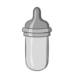 Bottle with nipple icon black monochrome style vector image