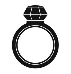 brilliant ring icon simple style vector image