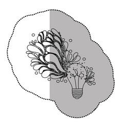 Bulb brain idea icon vector